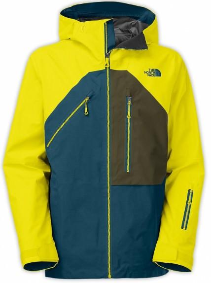 Желтая мужская зимняя куртка