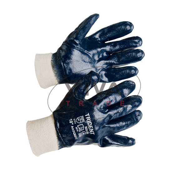 Масло-бензостойкие перчатки «TRIDENT» с покрытием нитрила
