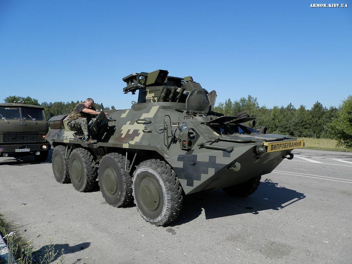 <!--:ru-->Фото: Испытания БТР-3РК с ракетами ПТРК «Барьер» и  пулемётом НСВТ<!--:--><!--:uk-->Фото: Випробування БТР-3РК з ракетами ПТРК «Бар'єр» і кулеметом НСВТ<!--:-->