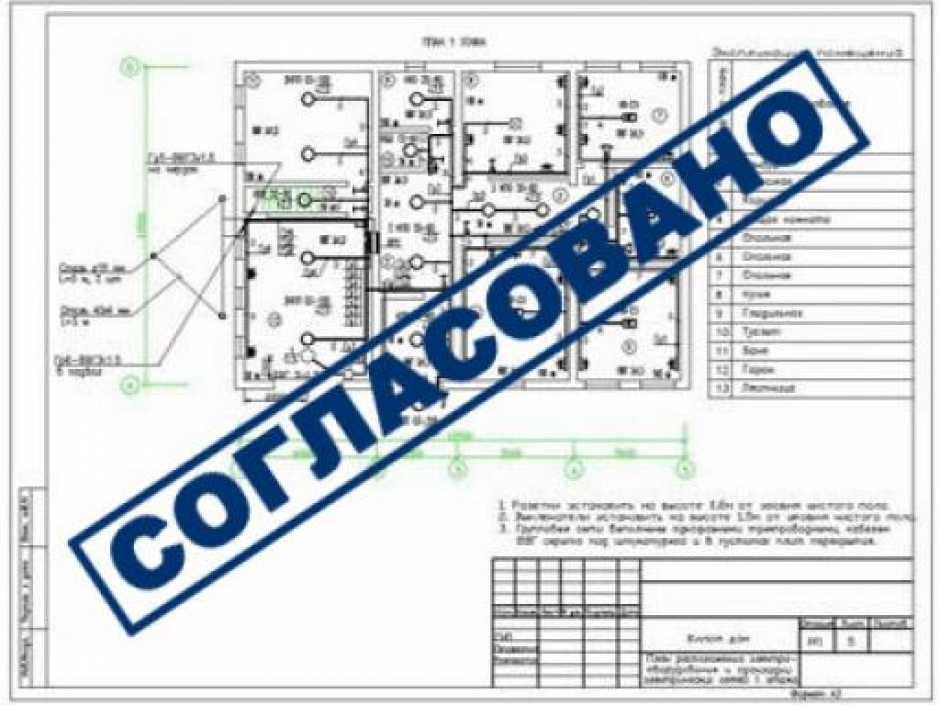 проект электроснабжения дома