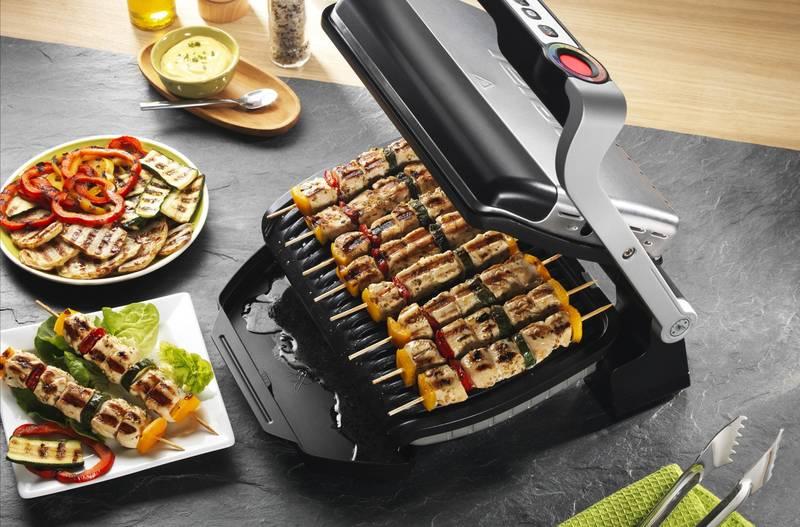 Электрогриль Tefal GC 702D OptiGrill – шесть автоматических программ для разных блюд, компактные размеры и легкость в уходе