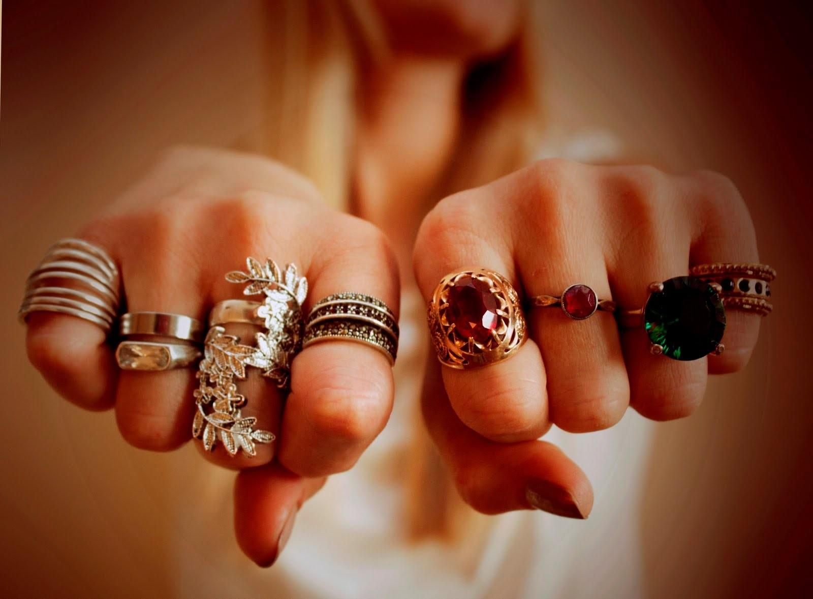 разные кольца женские