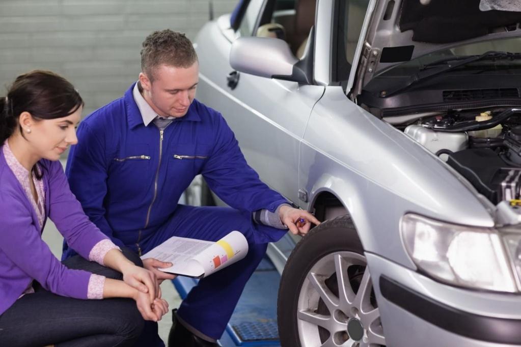 проверка шин автомобиля